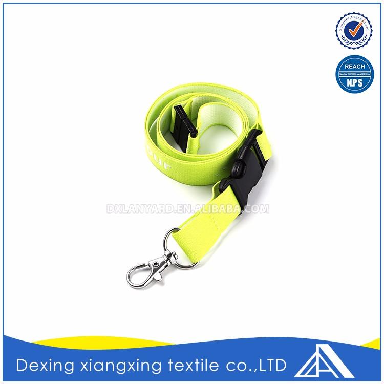 Neck Oem Yellow Breakaway Lanyard Extension Manufacture