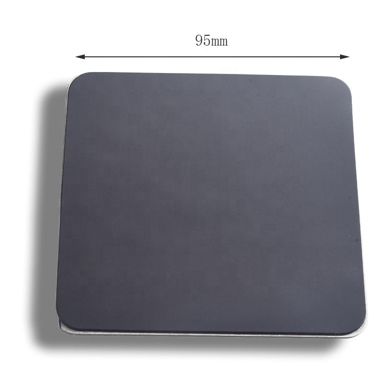 Luxury Square Shape Unbreakable Stainless Steel Custom Logo Tea Coffee Metal Coaster