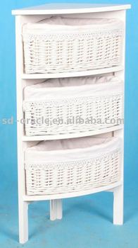 Home Furniture Wicker Corner Storage Cabinet