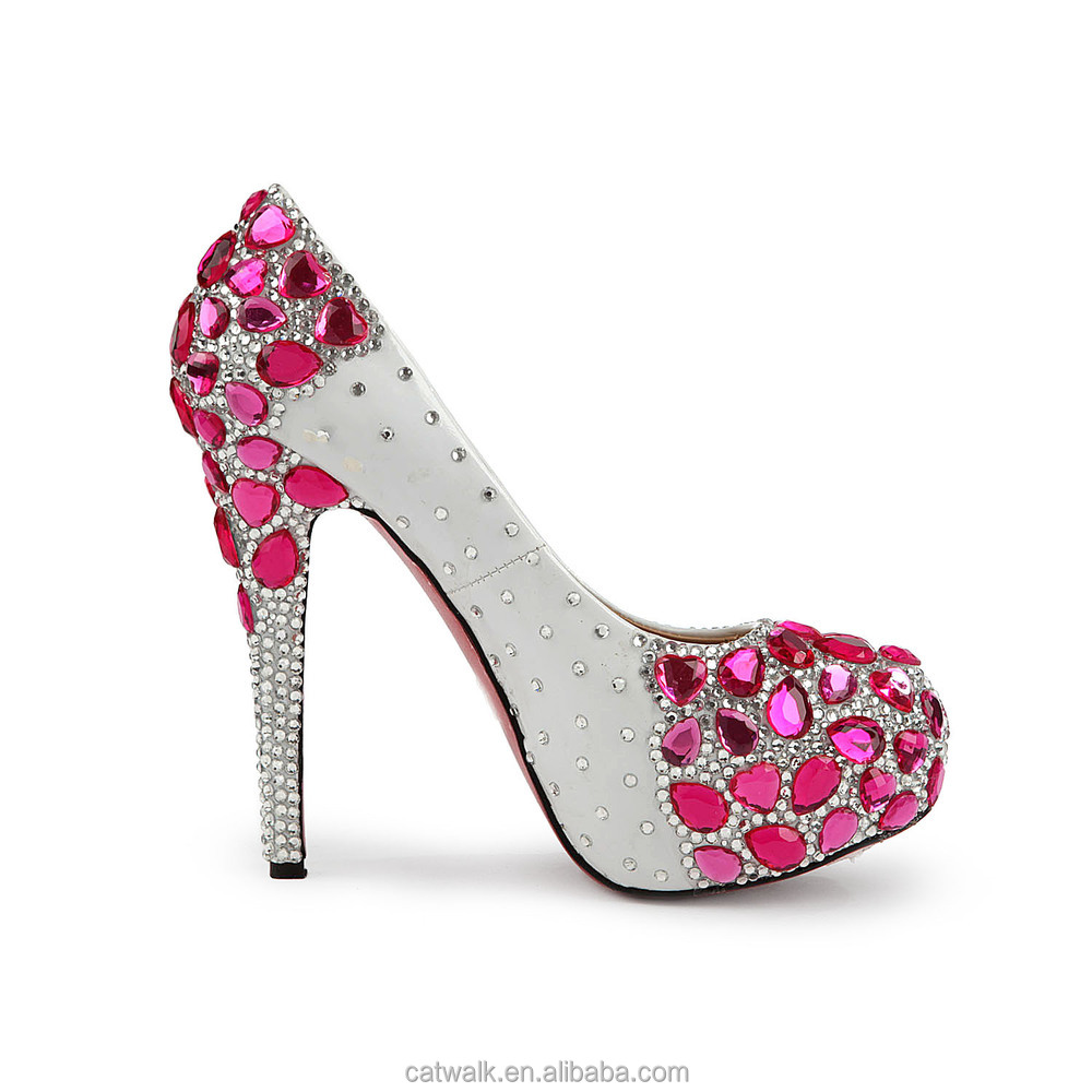 Pink High Heels With Diamonds