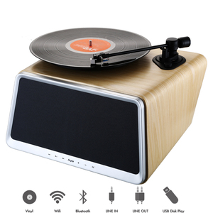 Superior Vinyl Record Player with 80Watt HiFi Full Range Speakers Smart 5-in-1 Stereo Audio Turntable for Vinyl Records Built in