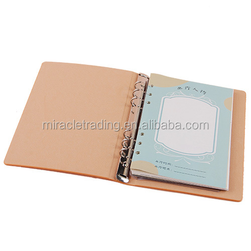 Daily planner printing custom design business notepad embossed logo PU notebook bag with pen holder