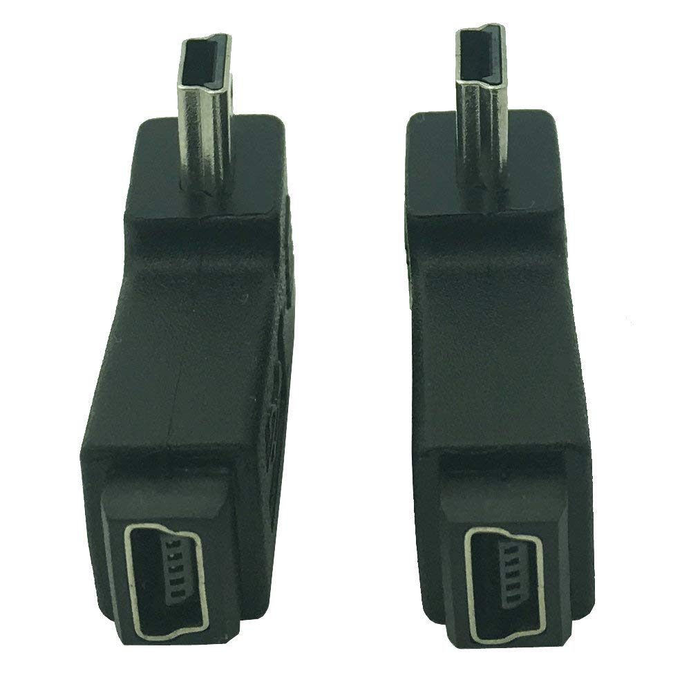 DONG Mini USB Male to Female Adapter MiniUSB Male to Female 90 Degree USB 5Pin Male to USB 5 Pin Female Plug Adapters Black