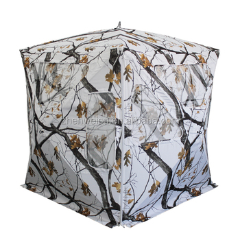 Fb432 Snow Camouflage Hunting Blind For Winter Hunting