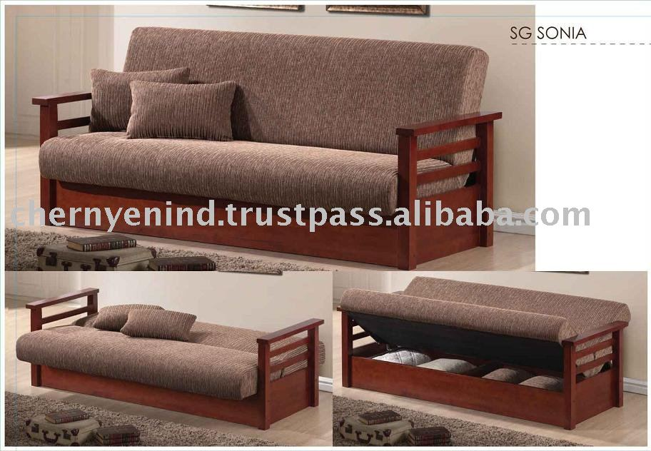Sofa Bed Futon Furniture Rubber Wood Fabric Modern Product On Alibaba Com
