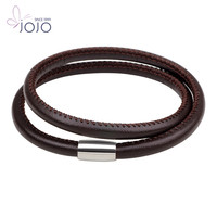 New Fashionable Accessories DIY Double PU Rope Leather Bracelet
