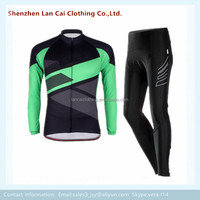 sublimated print bike wear long sleeves cycling team sports jersey