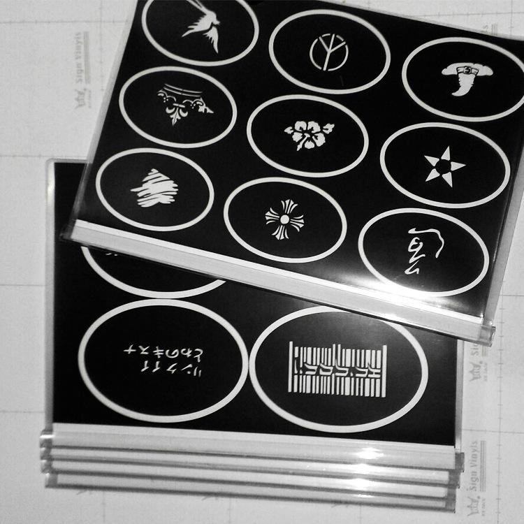 120 Designs Temporary Airbrush Festival Art Reusable Tattoo