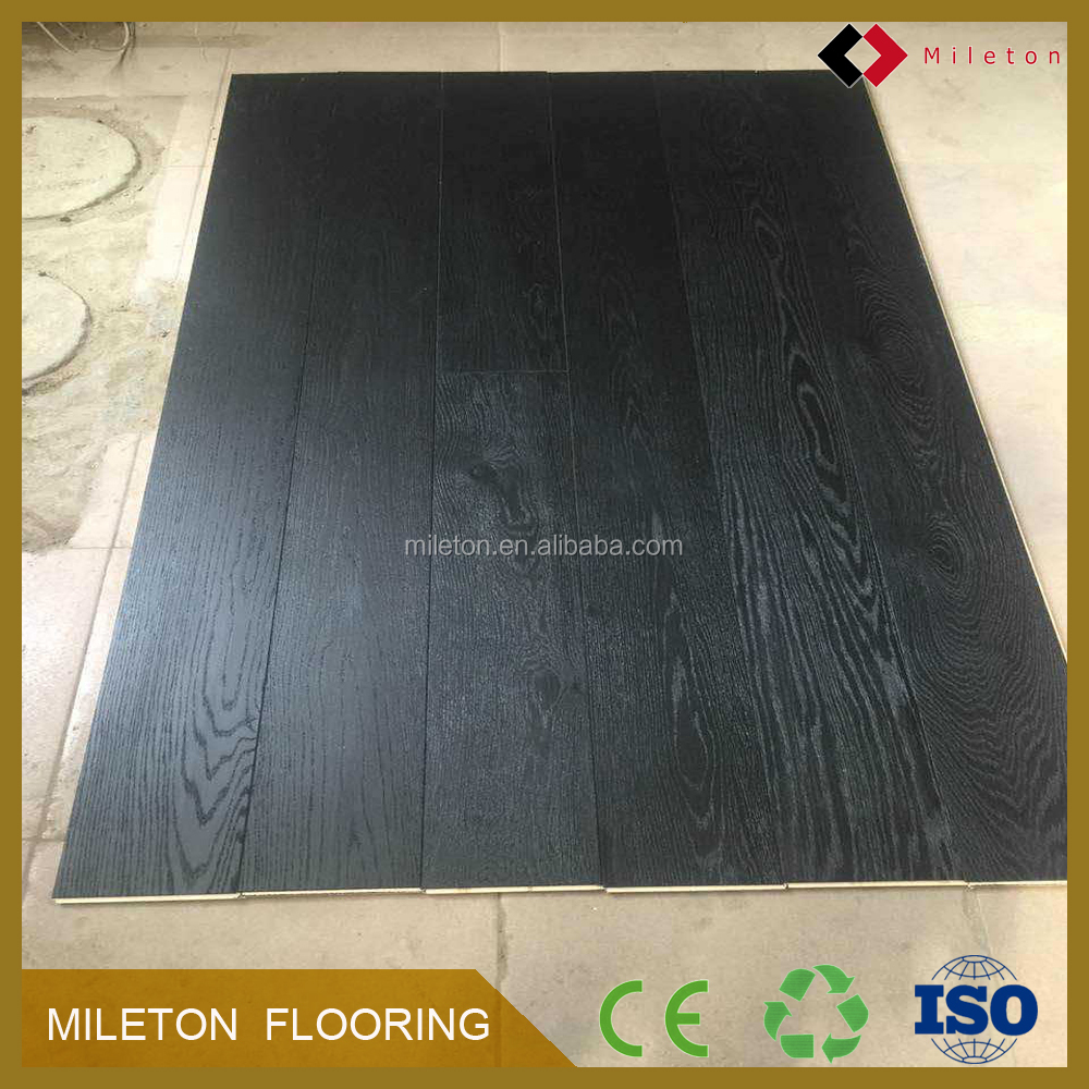 Multilayer Drawing black oil Oak Engineered Wood Flooring