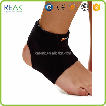 Professional Quality Healthy Flexible Black Neoprene Polyamide Rubber Spandex Polyester Right Ankle