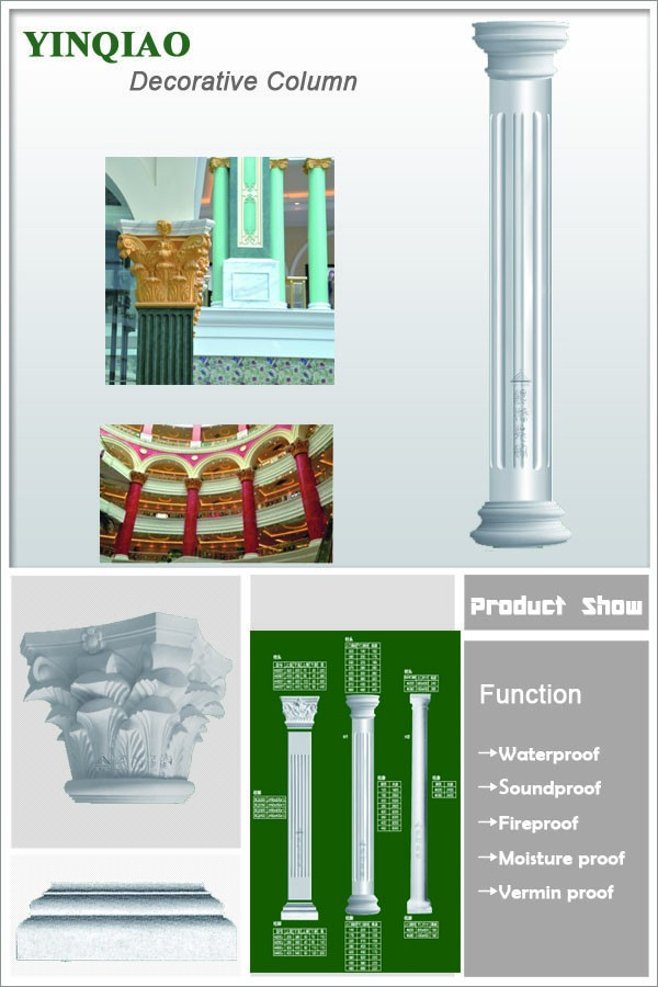 Indoor & Outdoor Pillar Decorative Gypsum Pilaster Capitals