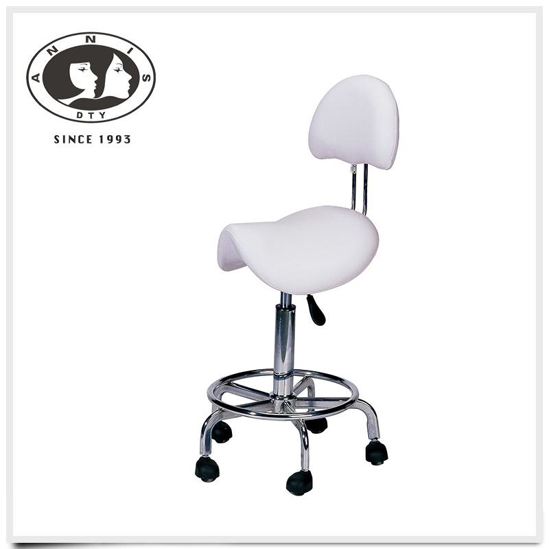 DTY Technician Stool Kelly WHITE Chair for Spa Salon Medical Office