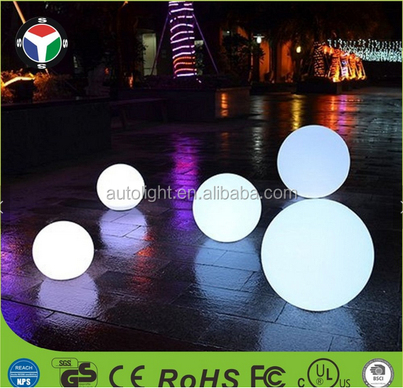Novelty Outdoor And Indoor Waterproof Remote Control Night Light 20cm 25cm LED Ball