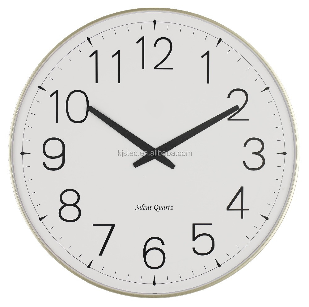 electronic time plastic retro wall clock
