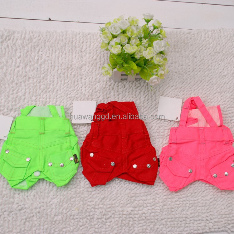 Cheap pet cloth candy color commuting trousers with braces