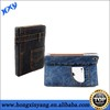 Card slot design,jeans wallet style leather case for iPad 2 3 4
