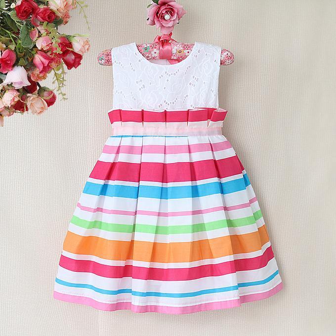 Детские платье в полоску