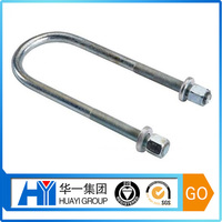 fast delivery custom steel with zinc plated u bolt with washer and nut