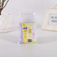 2018 Cellophane Eco Friendly Plastic Wholesale Colors Printed Adhesive Bag