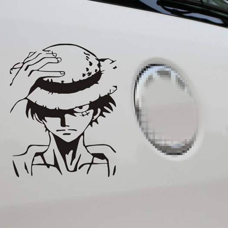 1PC High Quality One Piece Car Stickers Cartoon Luffy