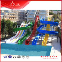 Quality Residential Adult Swimming Pool Water Slides For Holiday Resorts