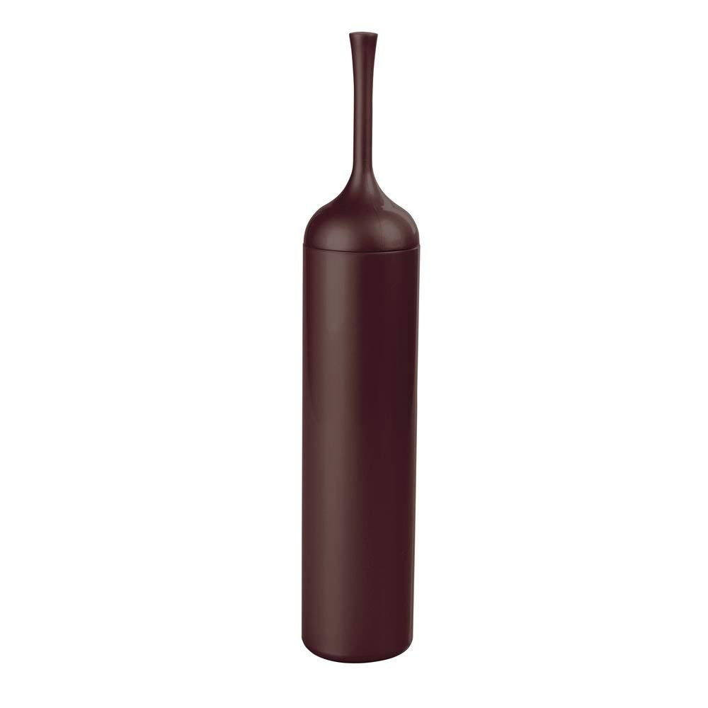 InterDesign Una Nuvo Slim Toilet Bowl Brush and Holder, Dark Brown
