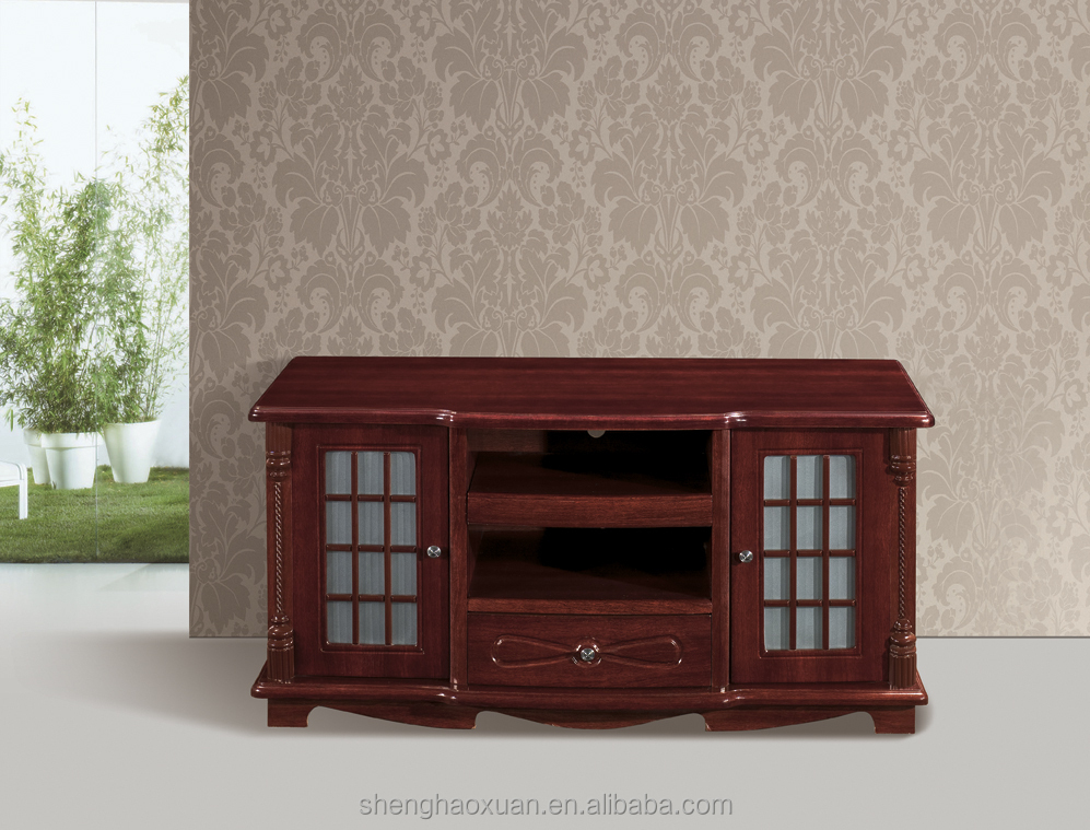China made top swivel wooden tv stand/wooden tv table
