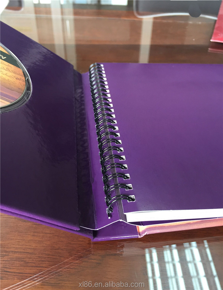 hidden metal Coil Binding hardcover book wholesale <strong>printing</strong> factory