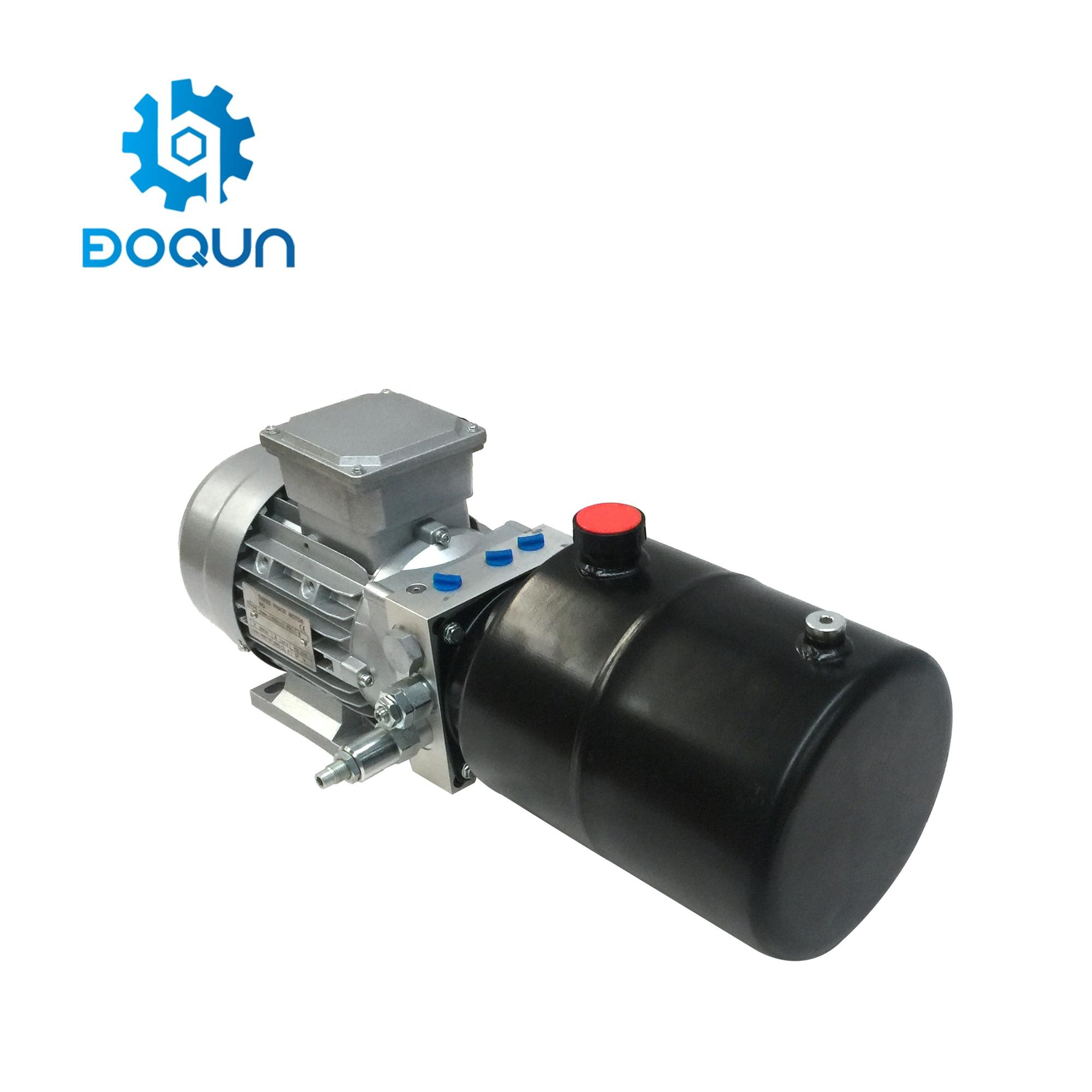 DD01B China Direct Supply 5L Mini Dubbelwerkend AC380V 3 Fase Motor Micro Elektrische Dock Niveau Hydraulische Power Pack Eenheden