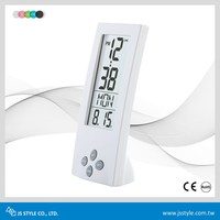 Home Decoration ABS Material Bedside Transparent LCD Electronic Vertical Alarm Clock