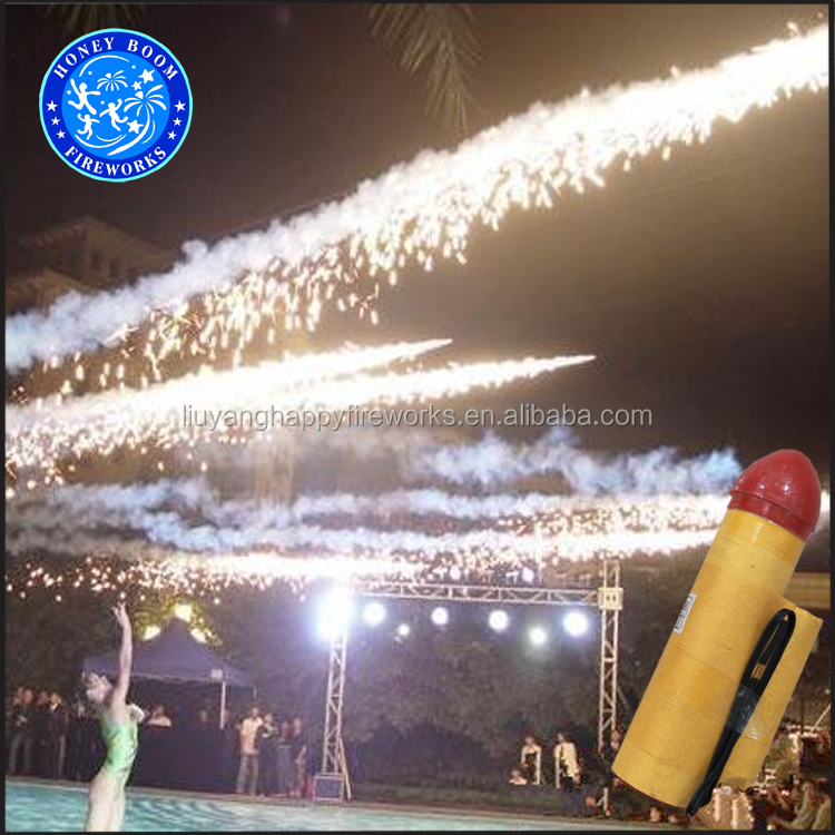 HB1144 50-200meter flying meteor fireworks for wedding Ice stage fountain