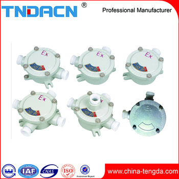 Iron explosion proof junction box IP66 with 1'' hubs