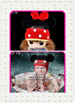 c39cccd3afb0b2 Infant Mickey Mouse With Knit Pattern Winter Crochet Animal Baby Hat ...