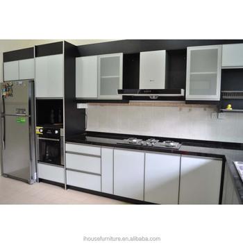 Neue Heiße Aufgepresst Weiß Glas Küchenschränke Möbel Set/milchglas ...