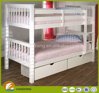 High Quality Solid Wood Pink Bunk Bed For Kid Kids Children