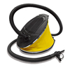 Plastic Inflatable Foot Pump With 3 Valve and Flexible Hose