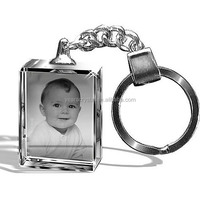 alibaba express 3d laser crystal glass keychain for child gifts,crystal personal keychain for baby gifts(R-2300