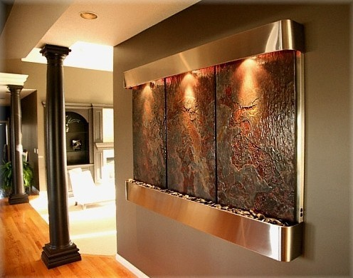 Beauty Salon Decoration Interior Wall Hanging Waterfall For Sales