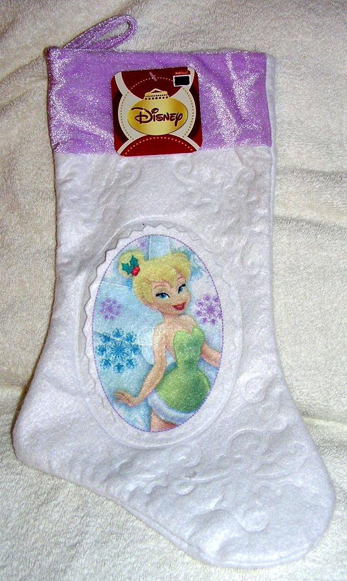"""Disney Fairy Tinker Bell 15"""" Felt Christmas Stocking"""