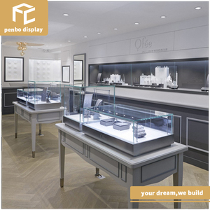 Extravagant shop design for jewelry display showcase and used jewelry display cases