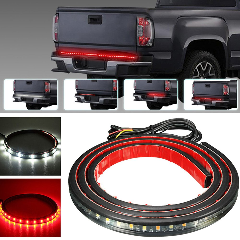 "AMBOTHER 5-Function 48""/49"" Truck Tailgate Side Bed Light Strip Bar 3528-72LEDs Waterproof Turn Signal, Parking, Brake, Reverse Lights for Pickup SUV Jeeps RV Dodge Ram Toyota Chevy GMC Red/White"