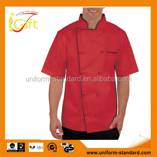 Men's Tall Traditional Fit Chef Coat Knotted Cloth Buttons 100% Cotton chef jacket malaysia