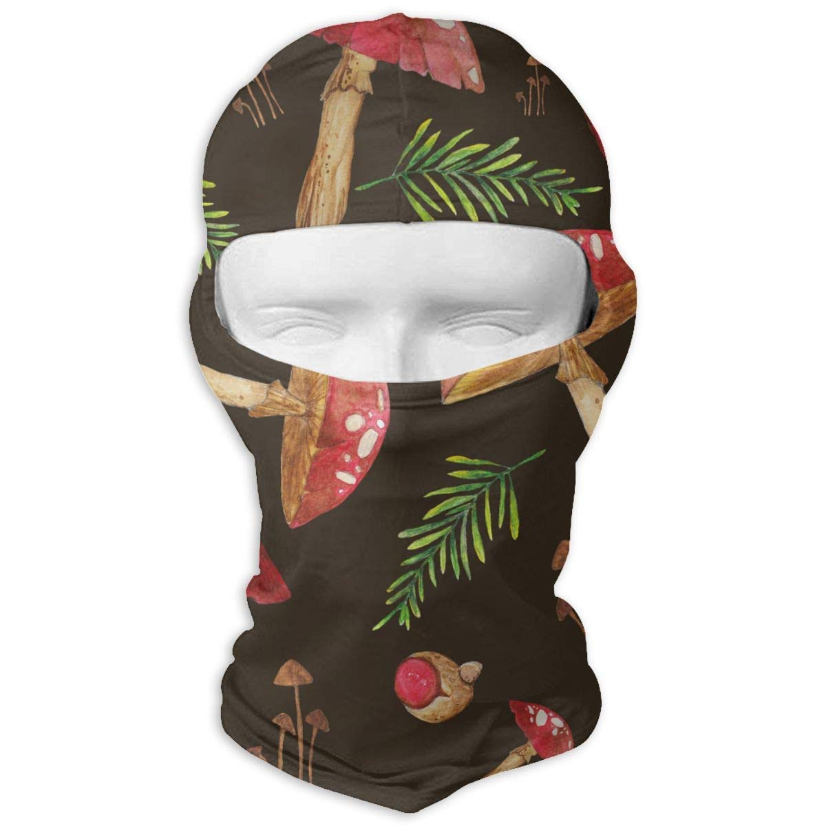 LJBBJL1 Mushroom Pattern Balaclava Face Mask Hood Outdoor Sport Hat for Ski,Cycling,Motorcycling,Climbing