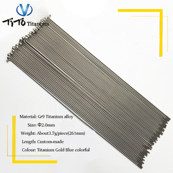 TiTo wholesale titanium MTB/Road bike wheel group bicycle spokes 2.00mm and the length can be customized
