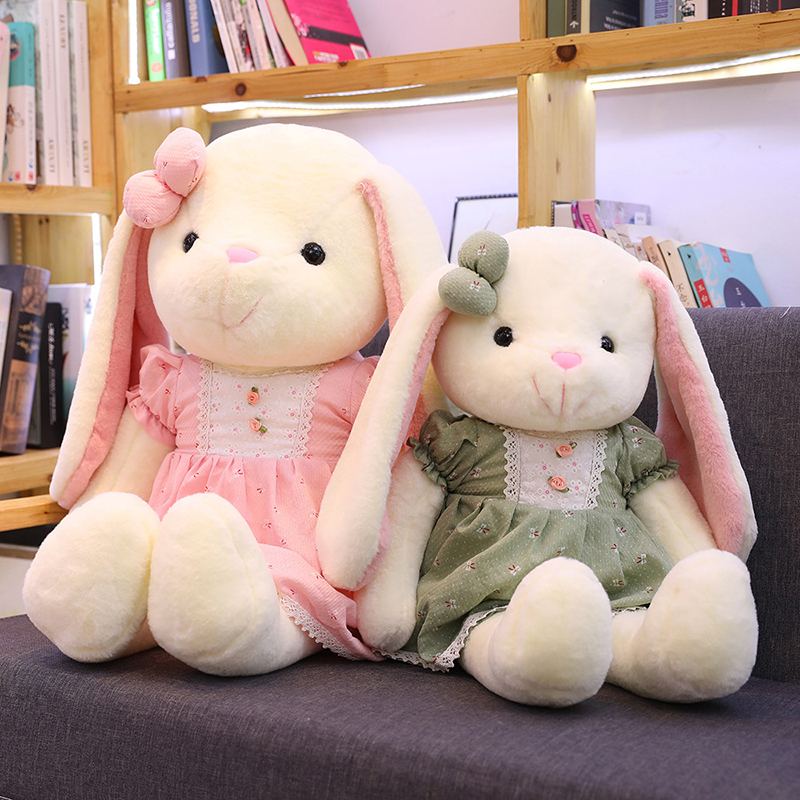 Wholesale cute bunny toy stuffed animal gift plush <strong>rabbit</strong> in dress plush bunny toy for children gift