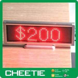 Active RFID E INK Advertising Programmable Led Price Tag in LED Displays