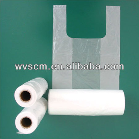 Biodegradable Shopping Plastic Food HDPE Carrier Bag On Roll