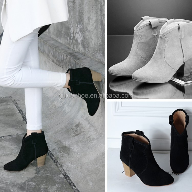 Gd Cheap Ladies Ankle Boots Wooden Heel Wholesale - Buy Chunky ...