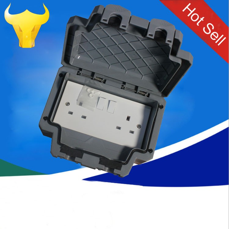 Weatherproof Outdoor 13a 2000w Twin Switched Double Socket
