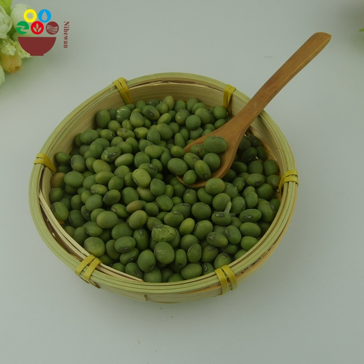 Factory supply bulk 8mm green soybean with yellow kernel